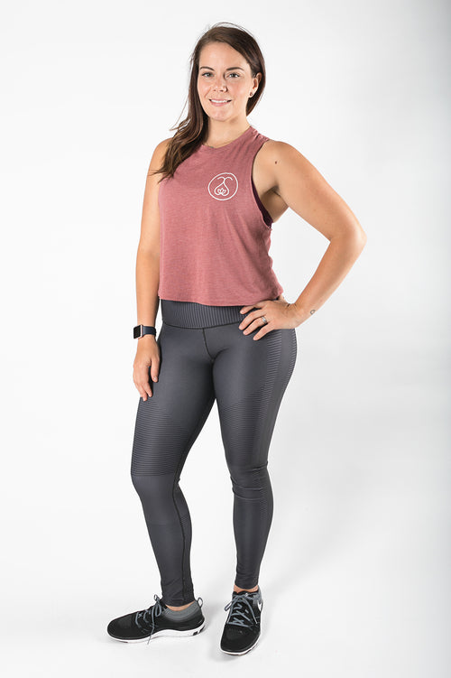 Sweat Society Cassie Racerback crop Ethical Activewear