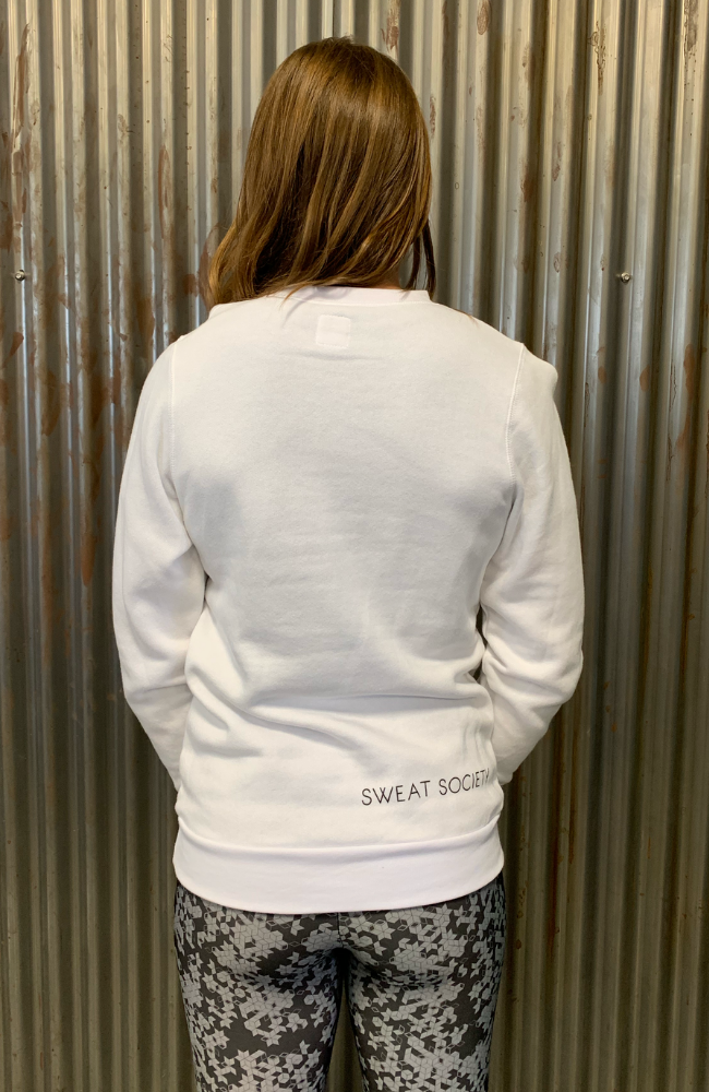 Sweat Society Ethical Activewear - Canada Crewneck White