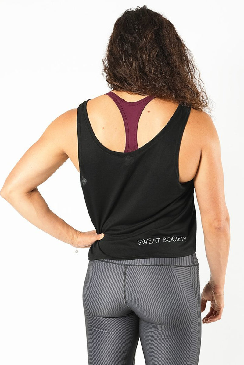 Sweat Society Bethany Crop Ethical activewear Canada usa