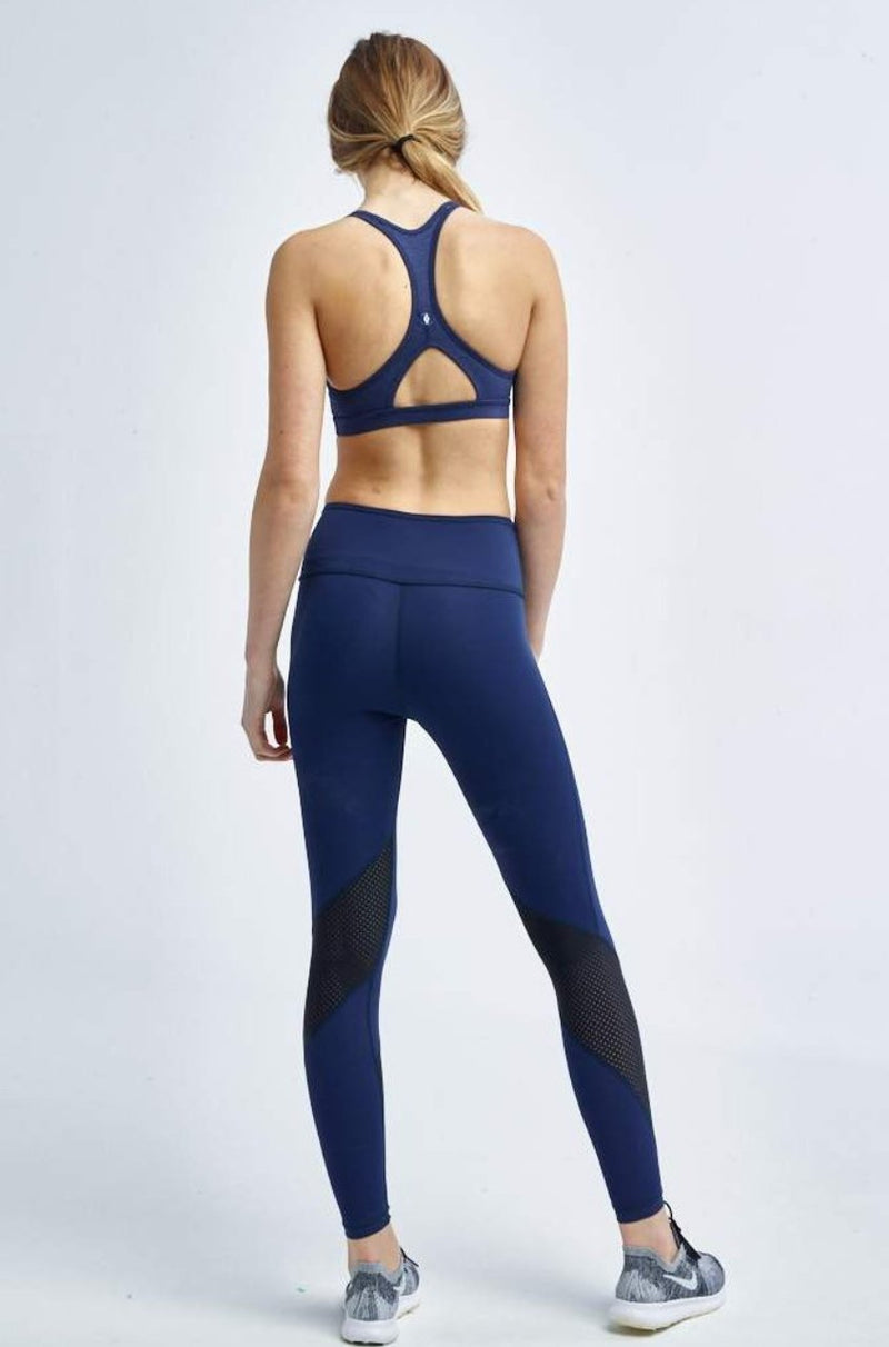 Tonic Activewear Sweat Society Paris Crop Navy Canada USA