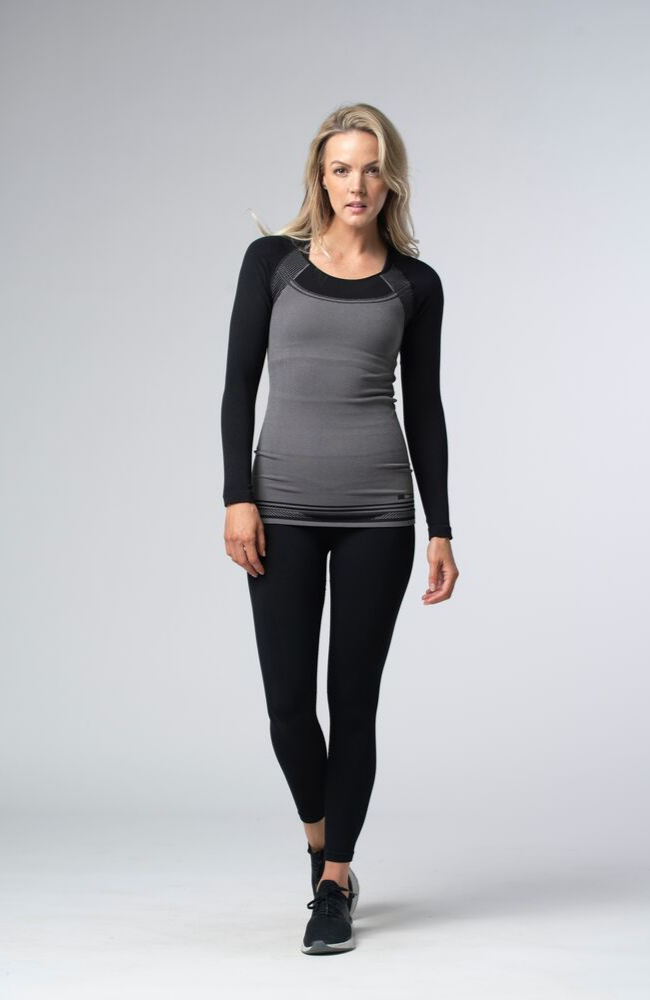 Tonic Active Sweat Society Oak Long Sleeve Seamless Canada USA