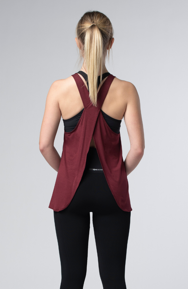 Tonic Active Viola Tank Sweat Society EThical Activewear Canada USA