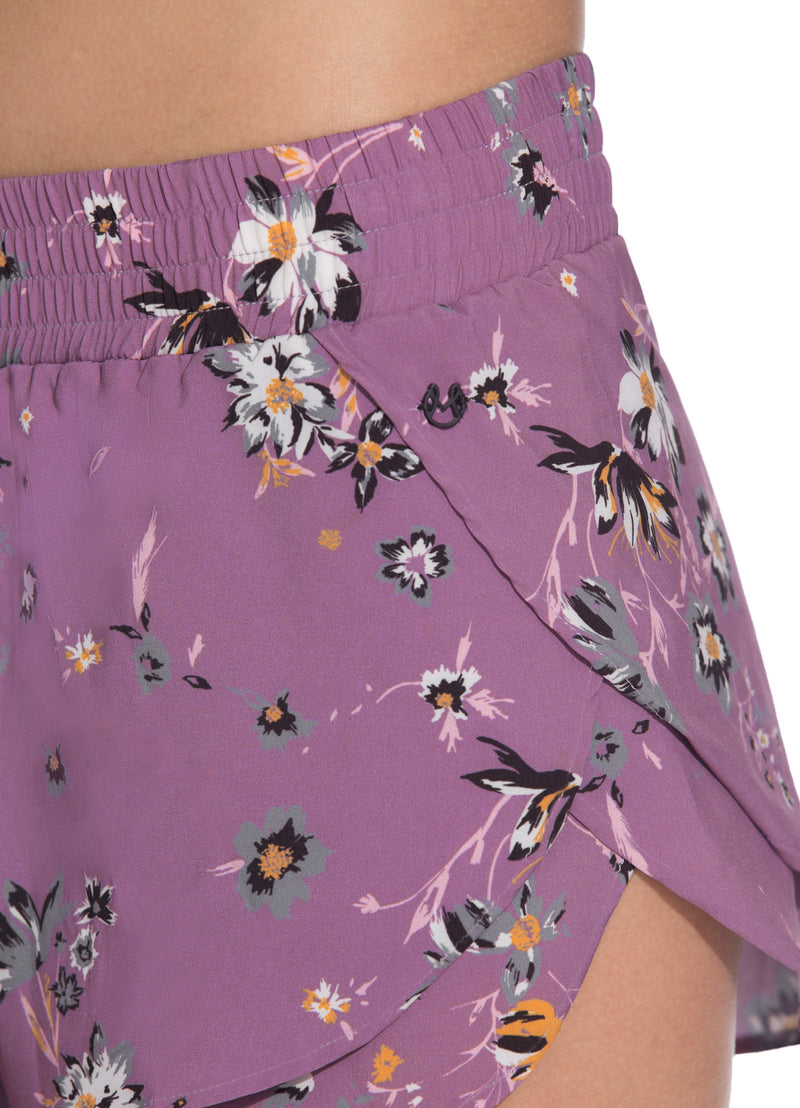 Vivid Wildflowers Iris Short Maaji Active Sweat Society Canada USA
