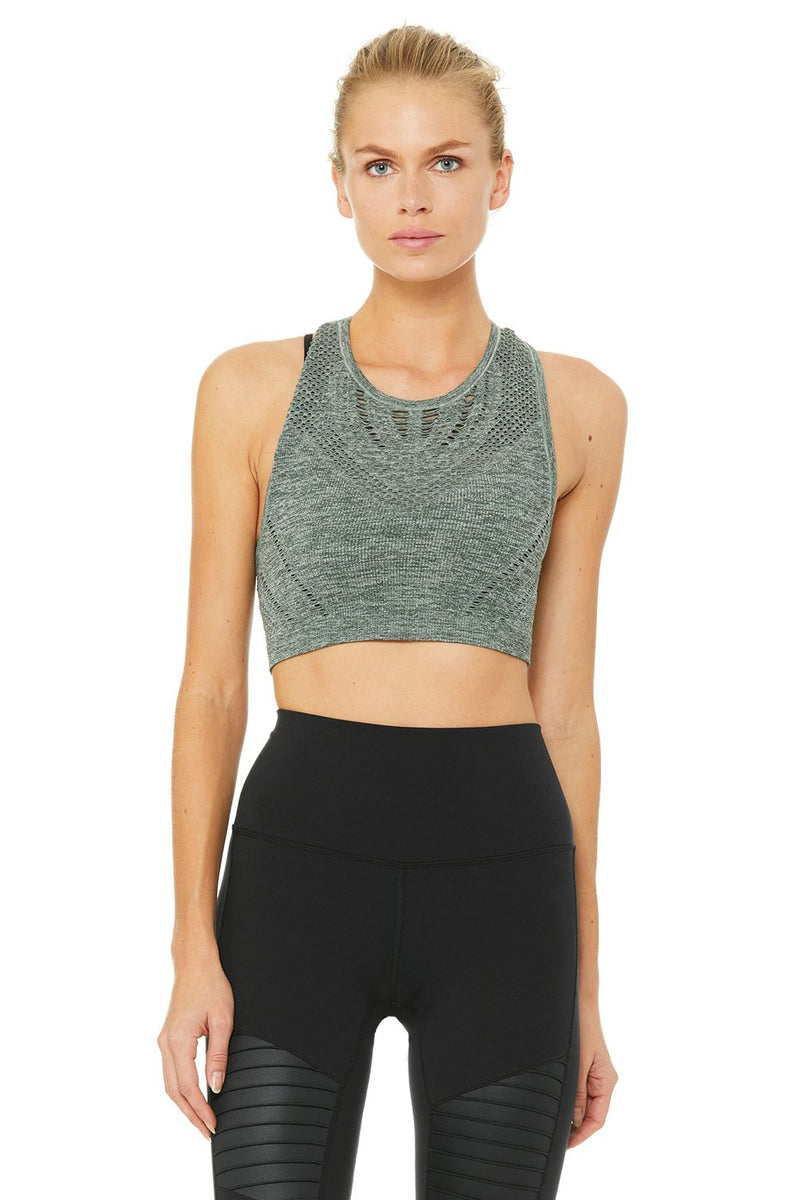 Vixen Fitted Crop Tank - Marine