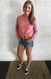 Sweat Society Ethical Activewear - LIFT collection - Mauve crop crewneck Canada USA