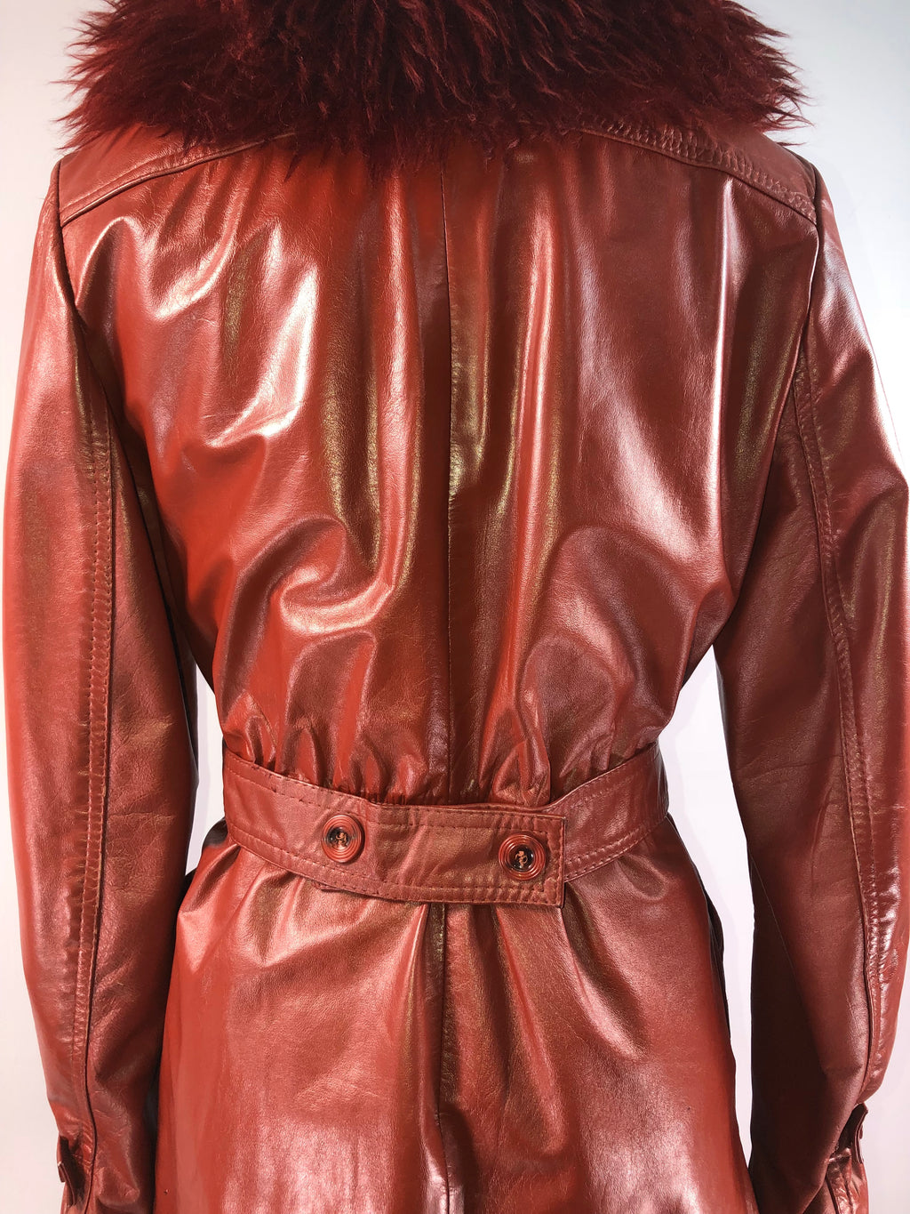 Winlit / 70s Jacket / 1970s Oxblood Red Leather Lamb Jacket