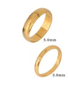 9K Gold 5mm Wedding Band