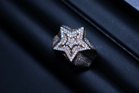 Diamond VS Star Ring