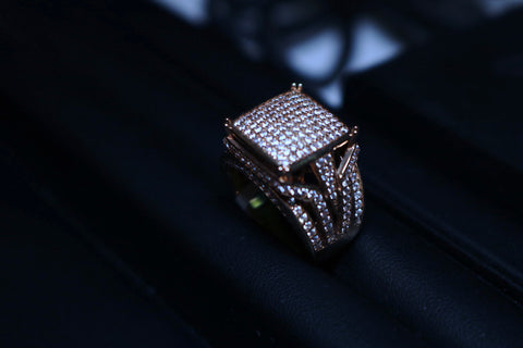 Pinky square Gold Ring