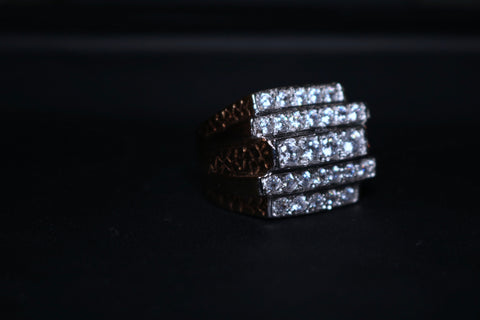 Step Gold Ring