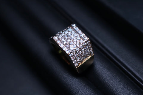 Pave Gold Ring