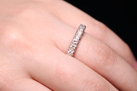 An Eternity Prong Set Ring