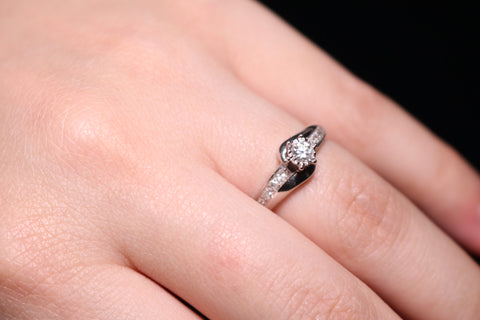 An Engagement Ring Diamonds
