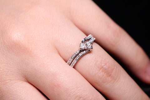 An Two Piece Engagement Ring