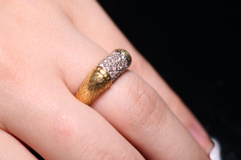 Diamond Patterned Ring