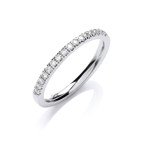 White Gold Half Eternity 0.20ct Ring