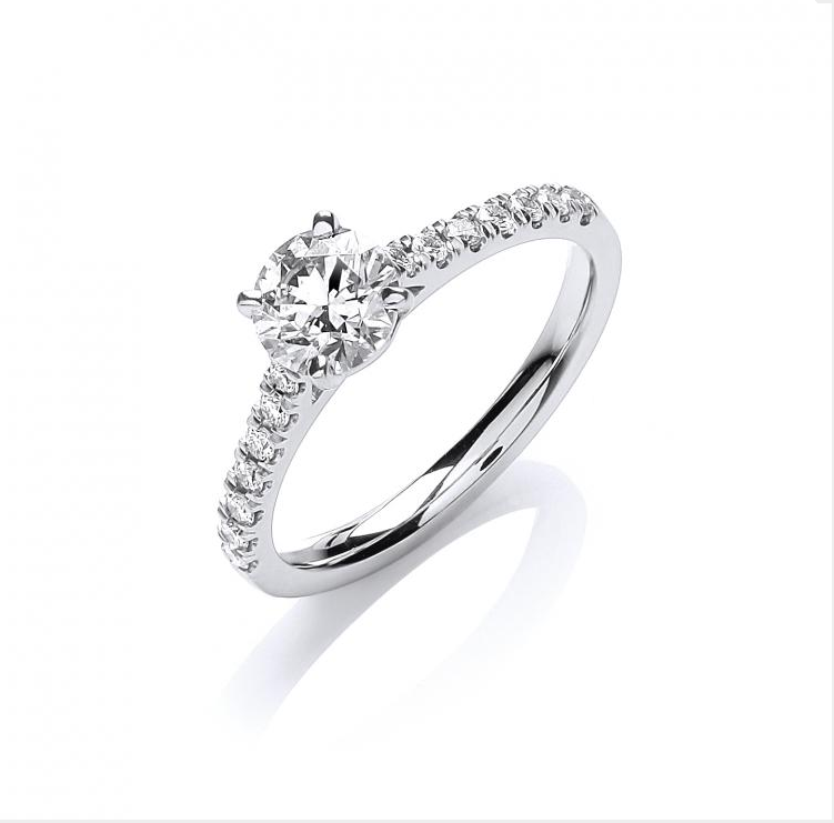 18ct White Gold 0.90ct Certificated Engagement Ring