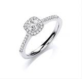 18ct White Gold 0.50ct Certificated Engagement Ring G/VS Grade