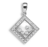 9ct White Gold 0.23ct Diamond Pendant