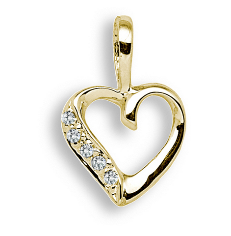 9ct Yellow Gold 0.025ct Diamond Pendant