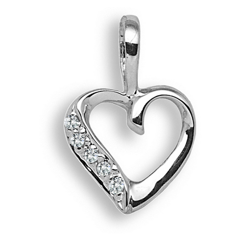 9ct White Gold 0.025ct Diamond Pendant