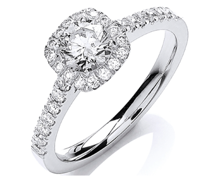 18ct White Gold 0.80ctw Certificated Engagement Ring