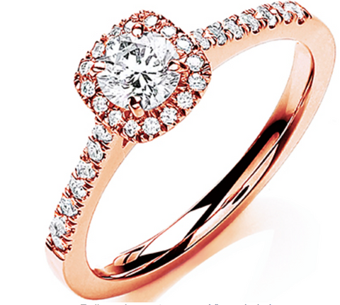 18ct Rose Gold 0.80ctw Certificated Engagement Ring