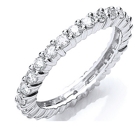 Platinum 1.00ct G/H-Vs Full Diamond Eternity Ring