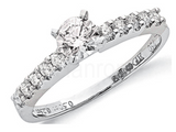 18ct White Gold 0.75ct Diamond Engagement Ring