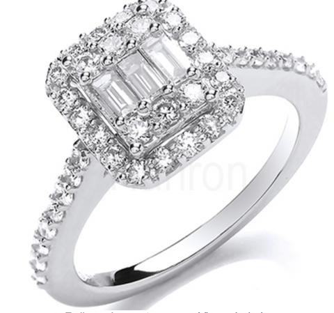 18ct White Gold 0.80ctw Diamond Ring