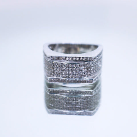 Silver pinky ring