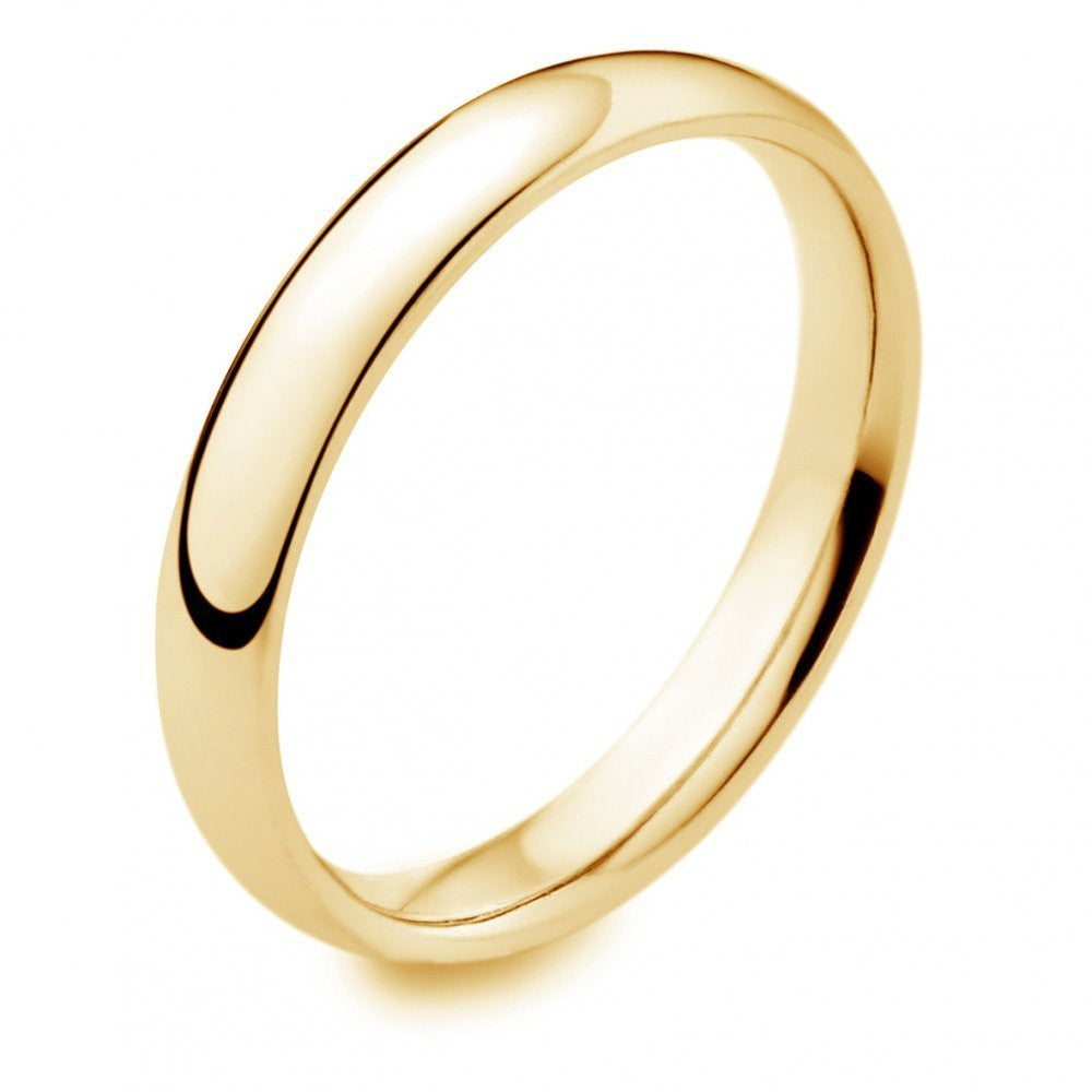 9K Gold 3mm Wedding band