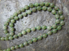 JADE BEADED NECKLACE, 8MM BEADS, 18 INCH