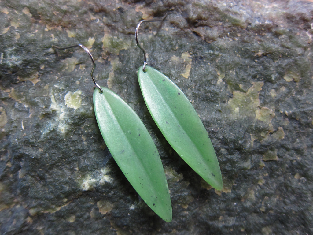 JADE LEAF EARRINGS