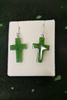 JADE CROSS EARRINGS