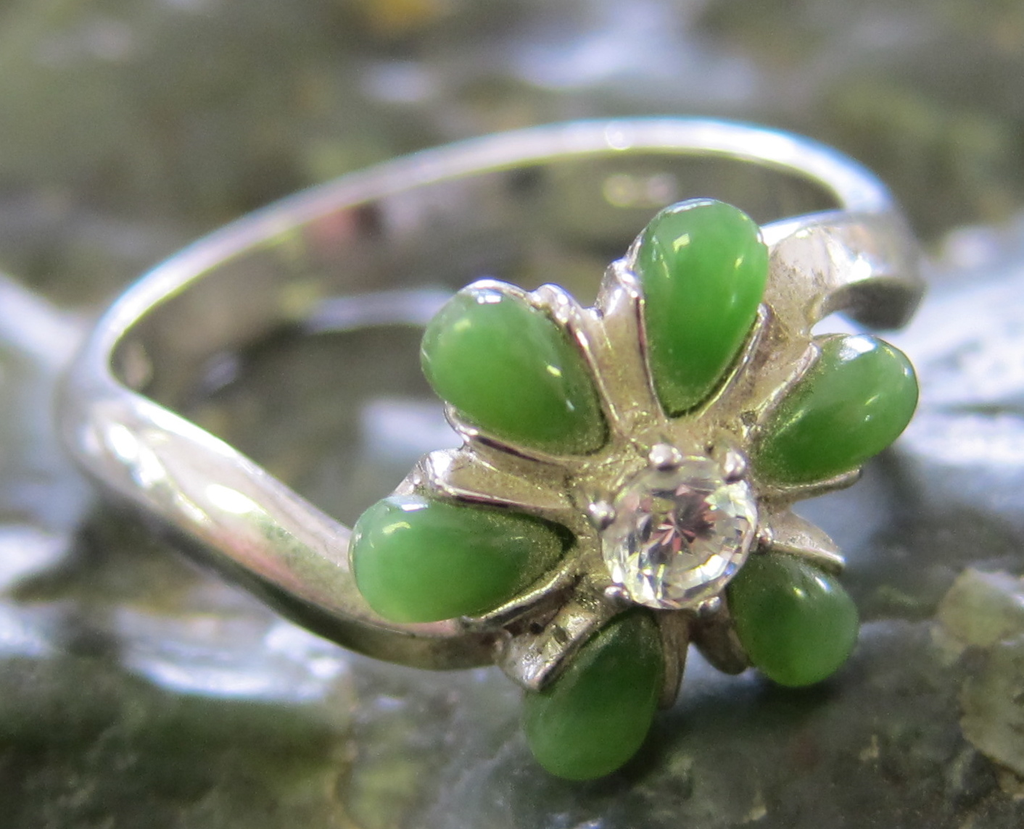 Jade Flower Ring