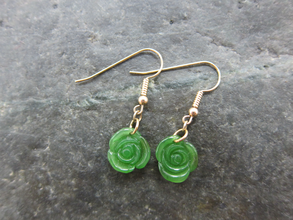 JADE ROSE EARRINGS