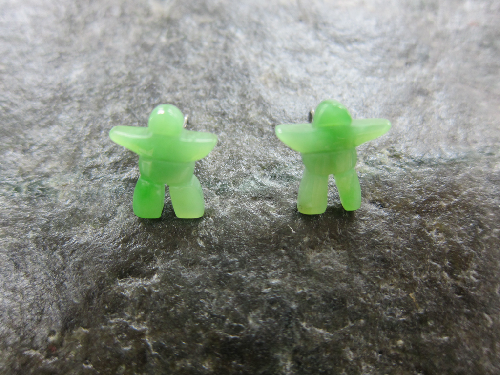 JADE INUKSHUK EARRINGS