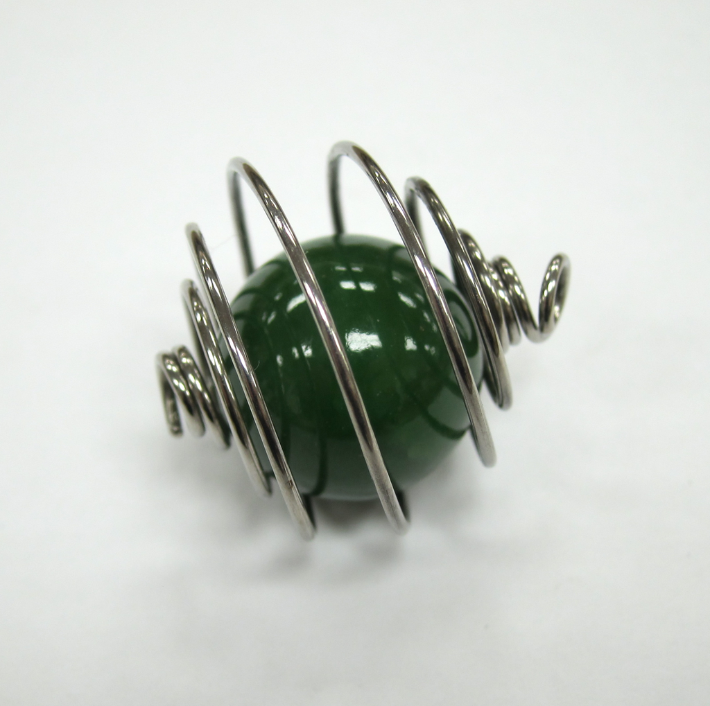 JADE BALL, WIRE WRAPPED