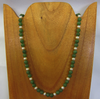 JADE BEADED NECKLACE, 14 INCH