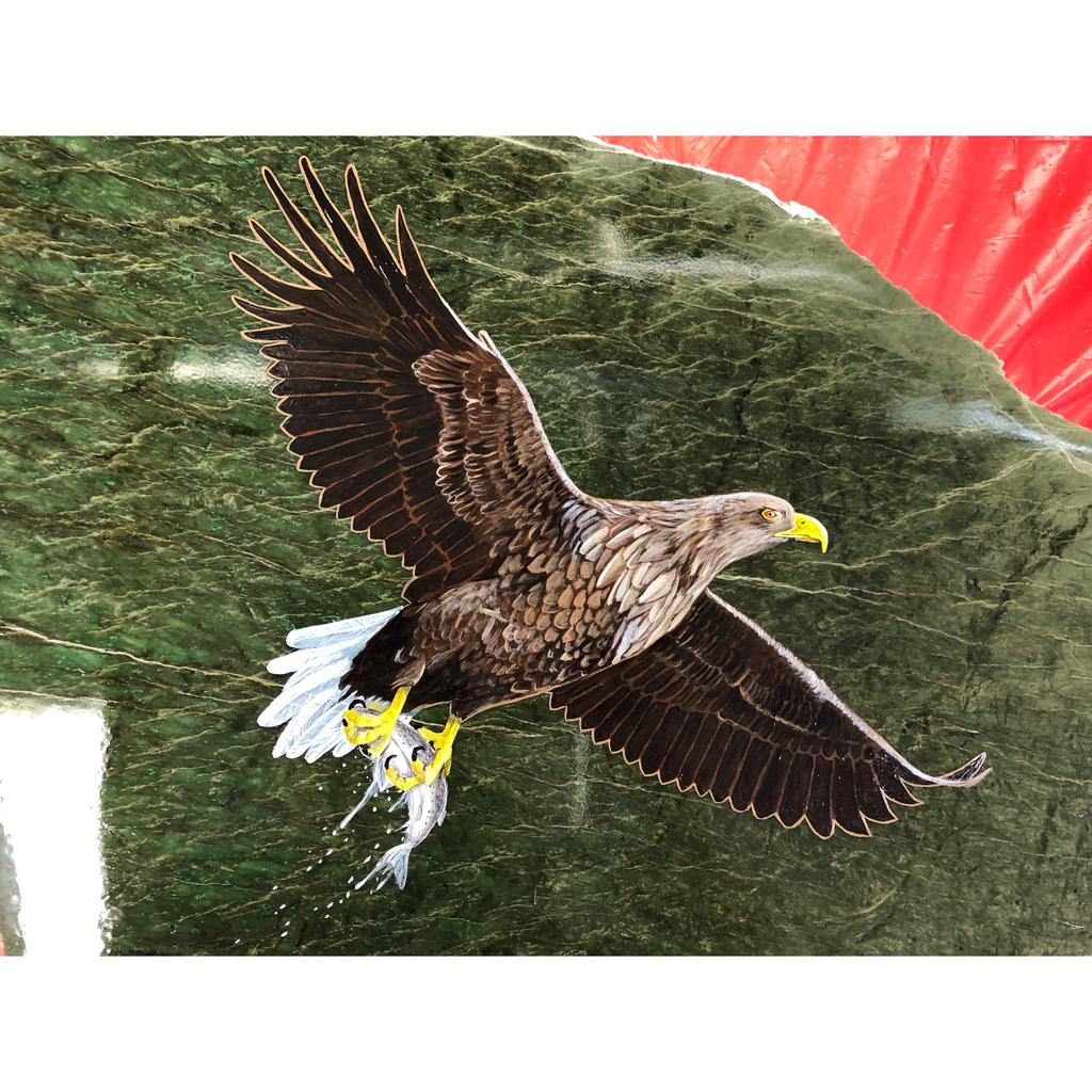 Eagle painting, hand painted in Jade City