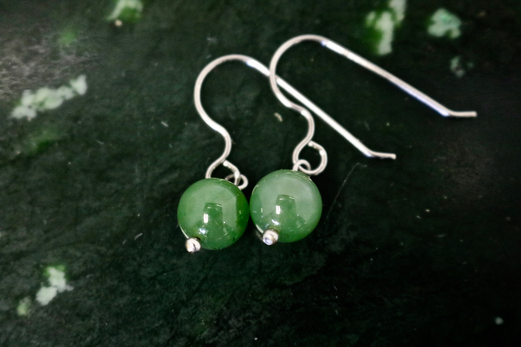 JADE BEAD EARRINGS