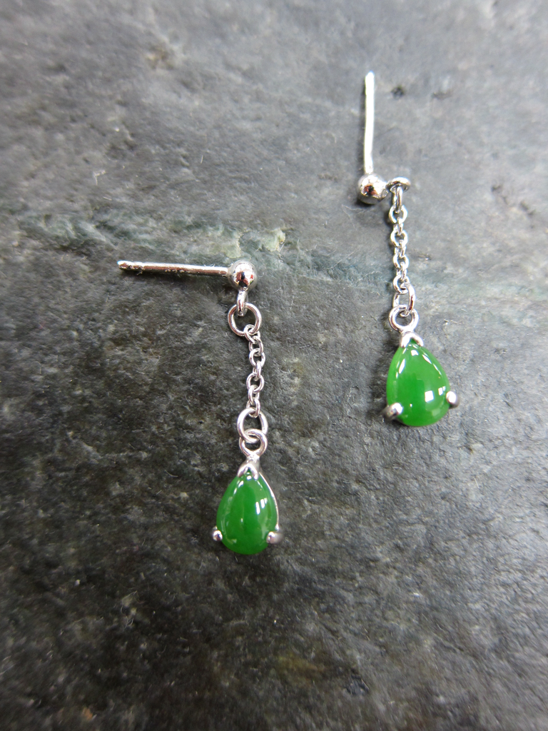 Jade Teardrop stud earrings