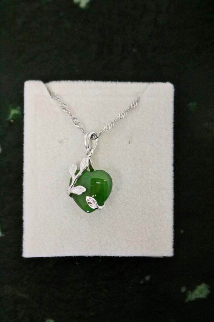 JADE HEART NECKLACE