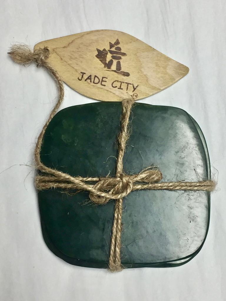 JADE COASTERS- SET OF FOUR