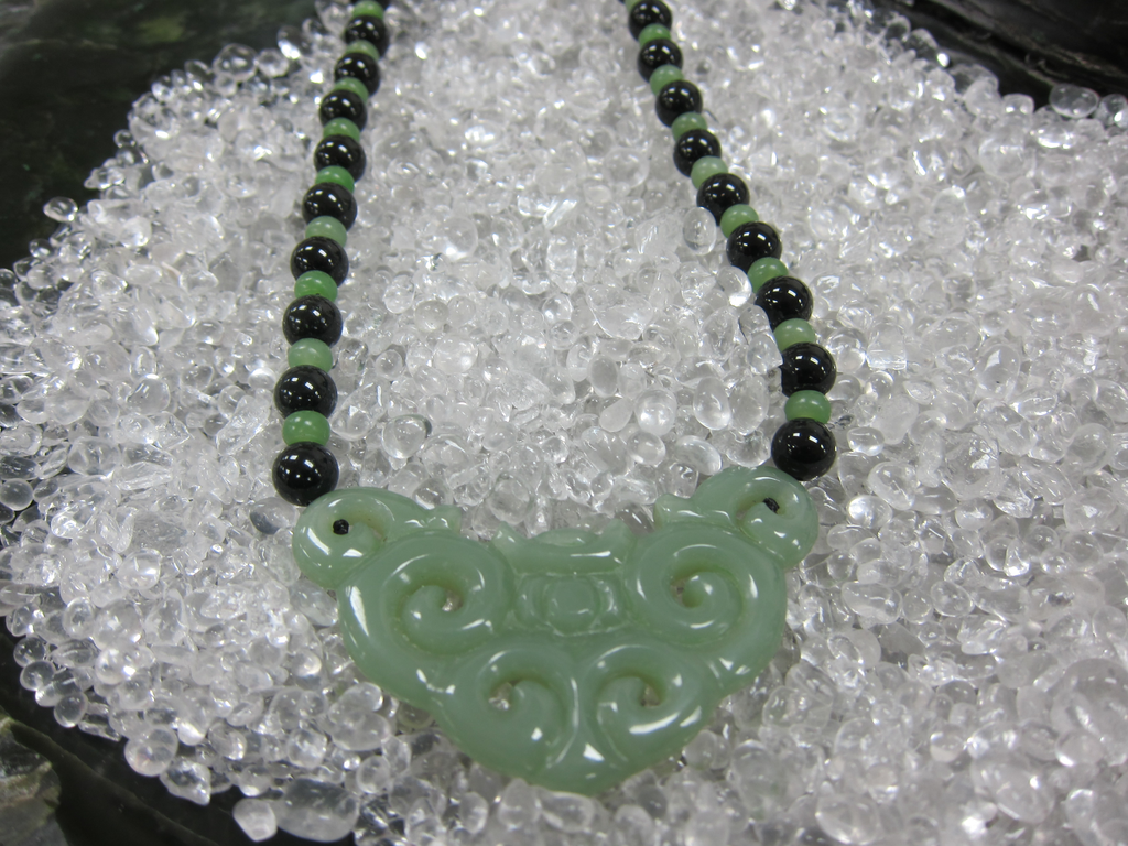JADE VINTAGE BEADED NECKLACE