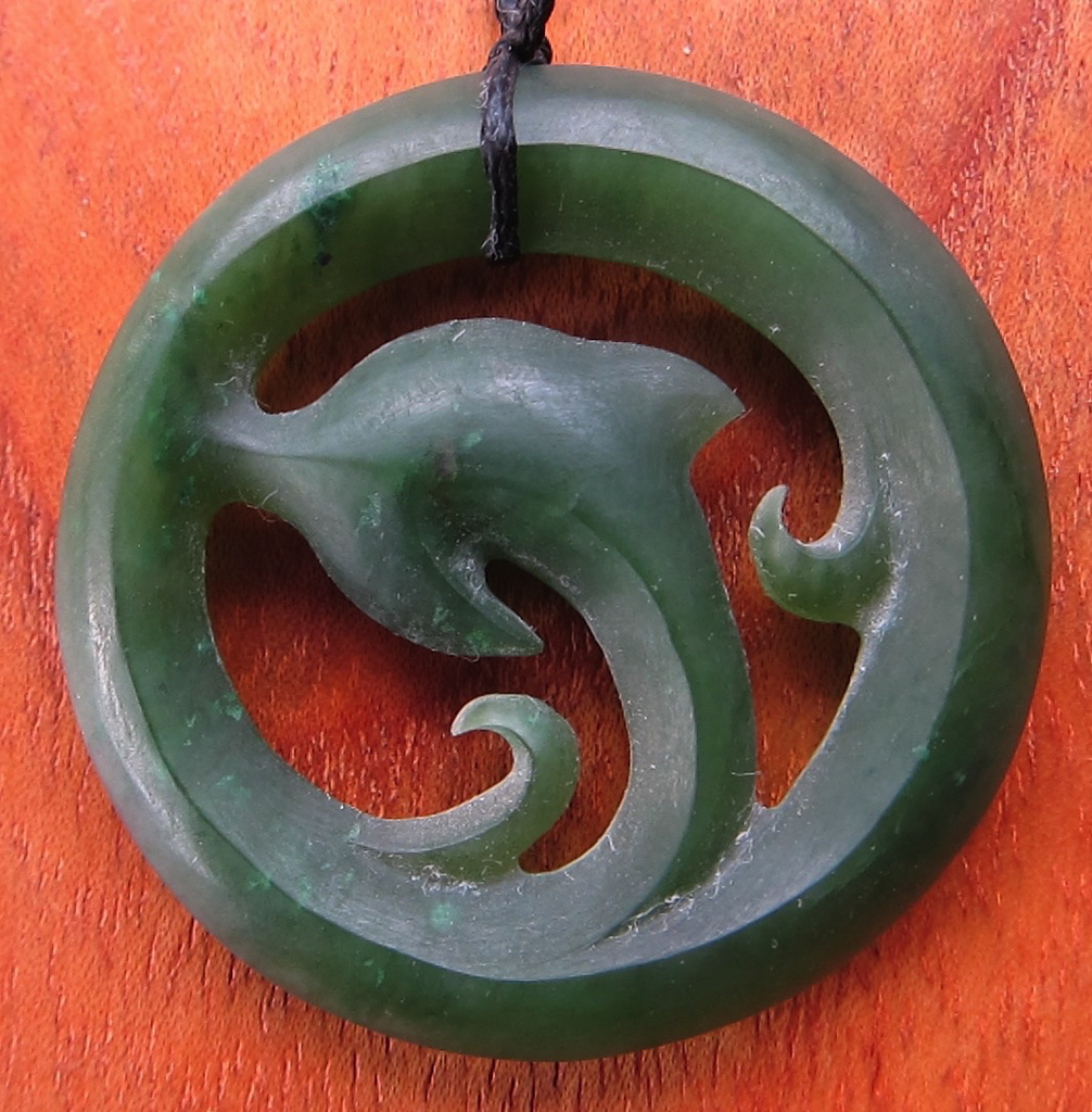 JADE DOLPHIN IN CIRCLE