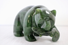 JADE BEAR WITH FISH, 5 INCH