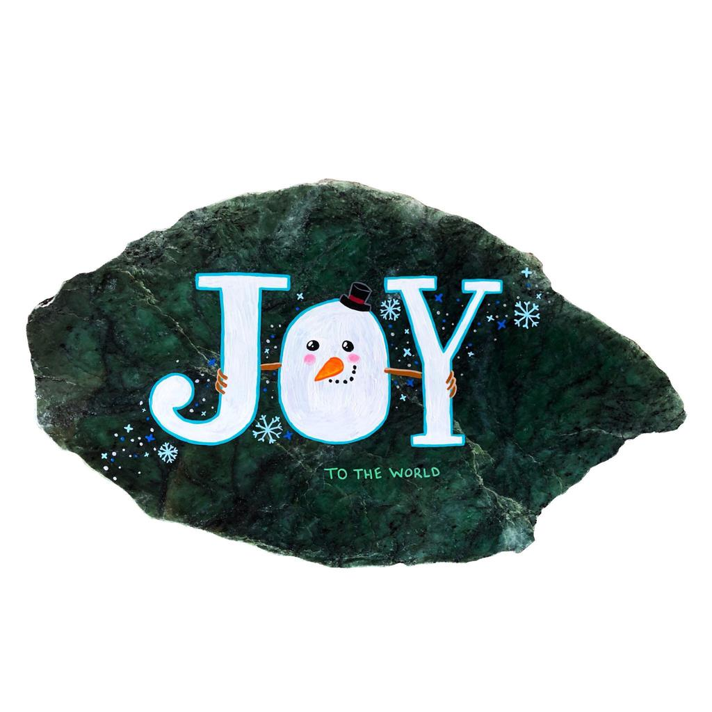 Christmas Joy, hand painted in Jade City