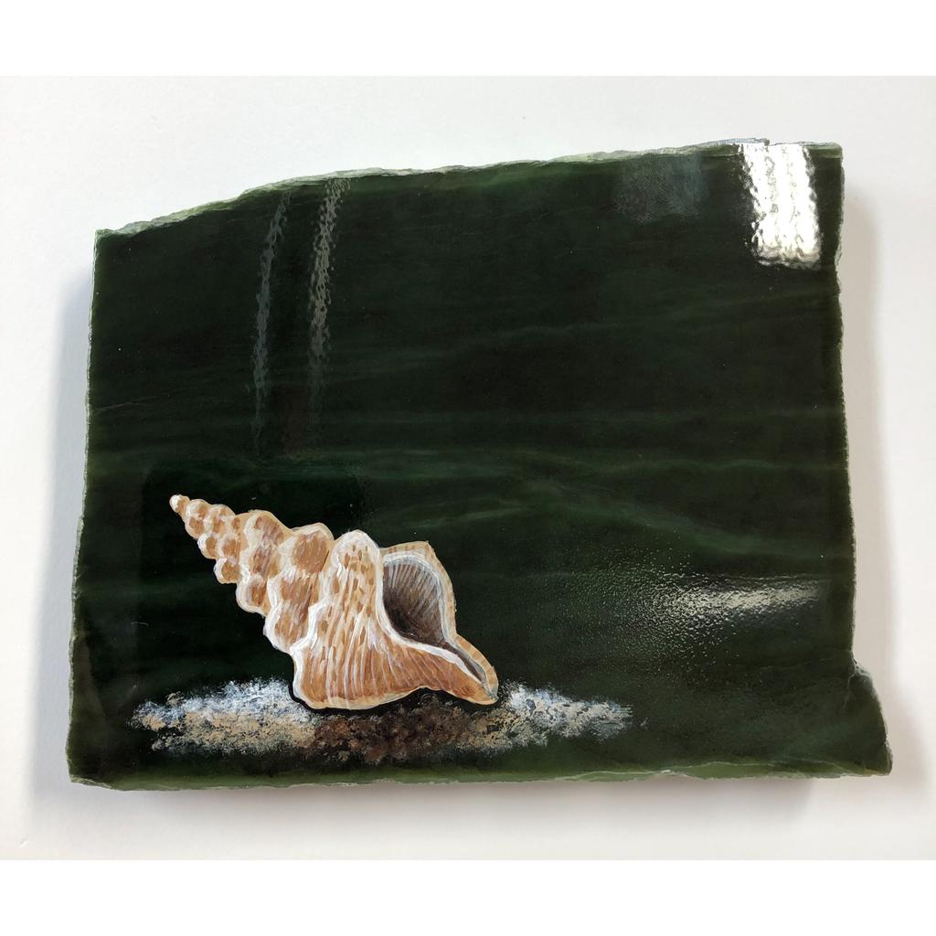 Seashell painting, hand painted in Jade City